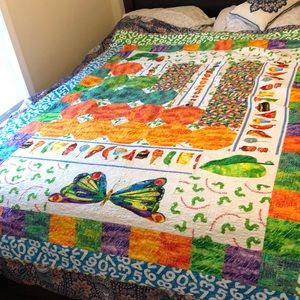 The very hungry caterpillar twin size quilt